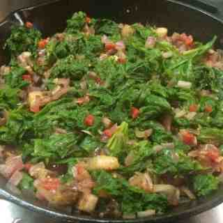Mustardy Mustard Greens (with bacon, of course!)