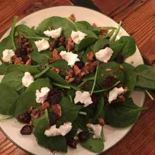 Winter Spinach Salad with Cider Vinaigrette Dressing