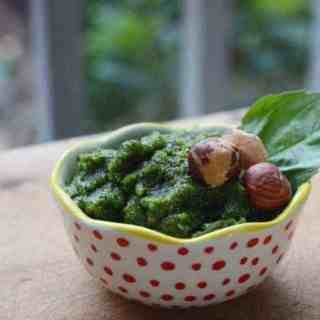 Fresh Basil Hazelnut Pesto
