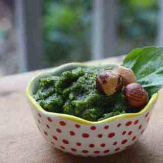 Fresh Basil Hazelnut Pesto