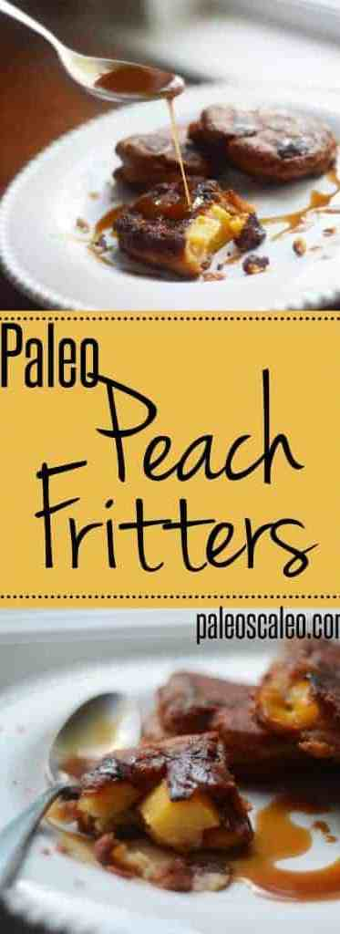 Paleo Peach Fritters with Maple-Bourbon Glaze