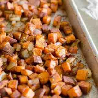 Chili-Cinnamon Roasted Sweet Potatoes