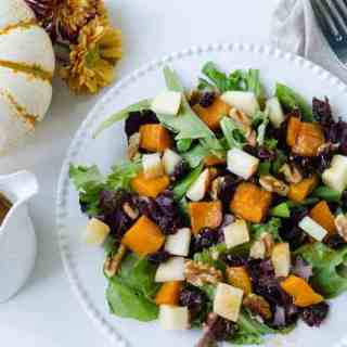 Fall Bliss Butternut Squash Salad with Cider-Cinnamon Vinaigrette