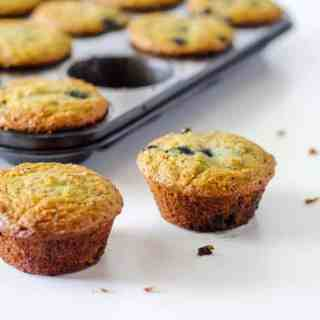 Coconut Chia Blueberry Muffins