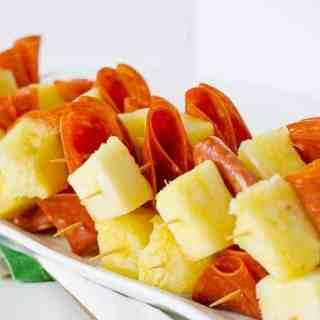 Pepperoni & Pineapple Skewers