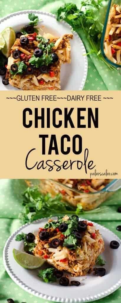 Easy Chicken Taco Casserole   PaleoScaleo.com