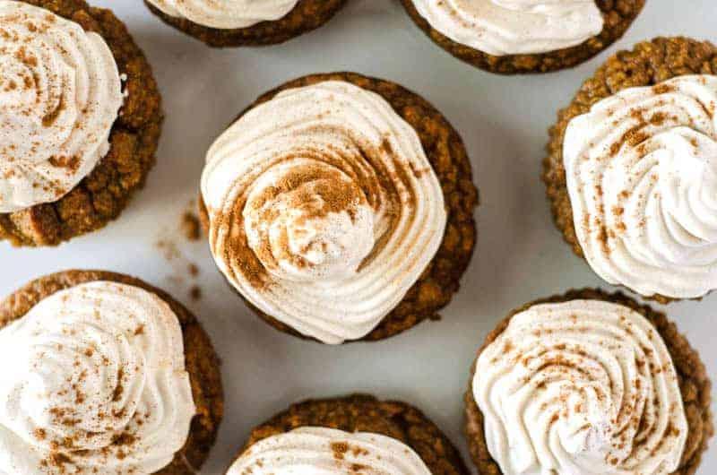 Paleo Pumpkin Cupcakes with Meringue Frosting   PaleoScaleo.com