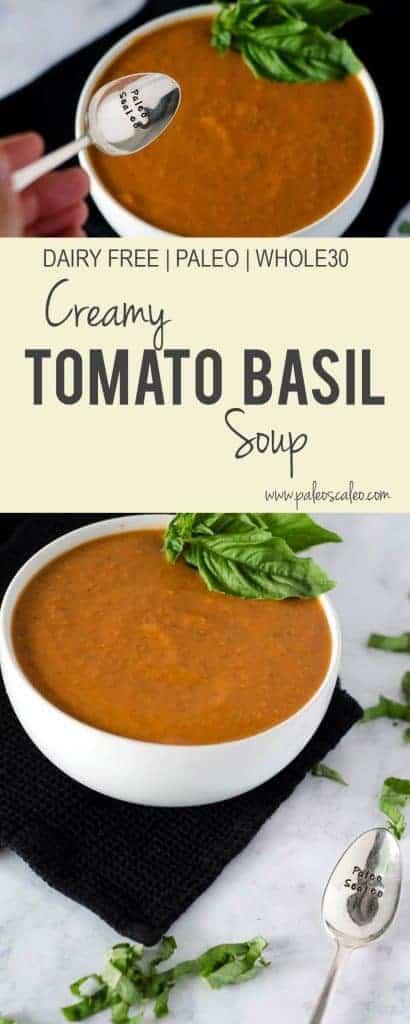 Creamy Tomato Basil Soup   PaleoScaleo.com