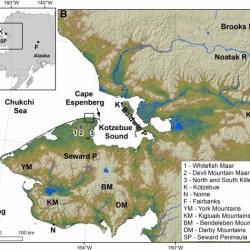 Just out   Diatom records and tephra mineralogy in pingo deposits of Seward Peninsula, Alaska @ Palaeogeography, Palaeoclimatology, Palaeoecology