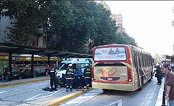 Murió un peatón atropellado por un colectivo 60 en Palermo