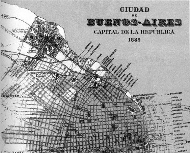 Mapa de la Ciudad de Buenos Aires, 1889