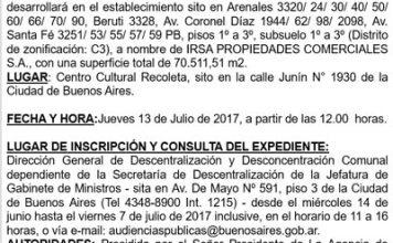 """""""Comercio Minorista: Centro de Compras (603321). Playa de Estacionamiento (604080)"""