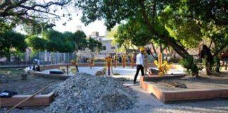 Inicio de obra por mejoras en la Plaza Inmigrantes de Armenia