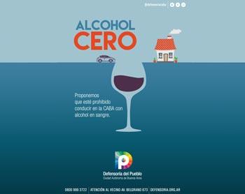 Proyecto de ley Alcohol Cero para conducir