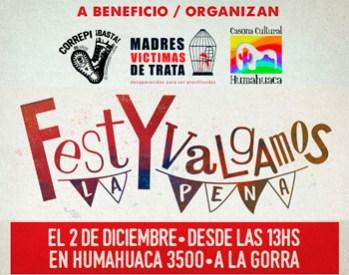 FestYvalgamos La Pena - festival a beneficio de MADRES Víctimas de TRATA y la Correpi