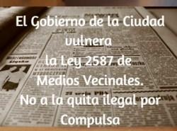 El GCBA incumple la ley 2587