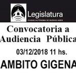 Audiencia Pública para aprobar la Zonificación del Ámbito Gigena
