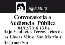 Convocatoria a Audiencia Pública sobre Bajo Viaductos Ferroviarios