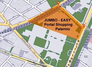 Se enajenarán de los terrenos donde funcionan Jumbo - Easy Palermo