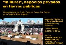 Audiencia Pública por el Predio Ferial de Palermo en el Congreso Nacional