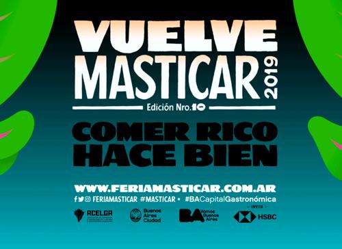 La Feria Masticar se hará del 15 al 18 de agosto de 2019 en El Dorrego