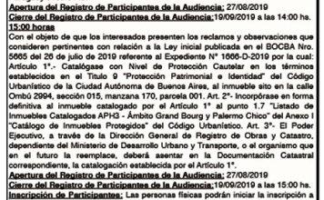 Audiencia Pública del 24-09-2019