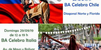 Buenos Aires celebra a Italia y a Chile 28 y 29/09 en la Av. de Mayo
