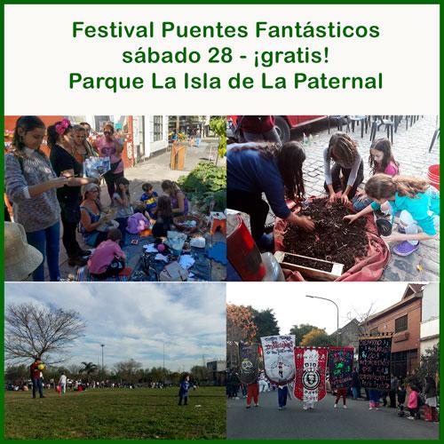 Festival barrial Puentes Fantásticos en el Parque La Isla