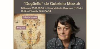 "Gabriela Massuh presenta su novela ""Degüello"" en la CVO"