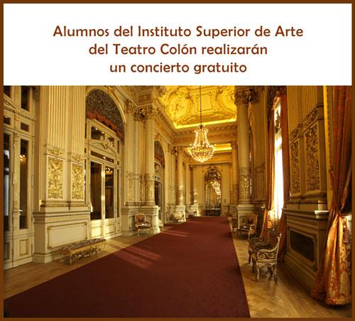 Alumnos del Instituto Superior de Arte del Colón en Concierto gratuito