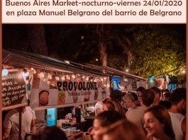 Buenos Aires en Belgrano el viernes 24 de enero de 2020 por la noche