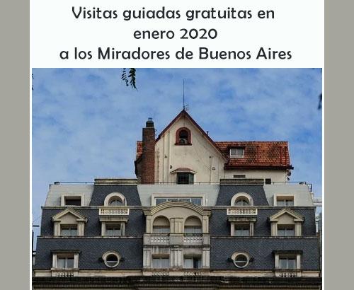 Visitas a los Miradores de Buenos Aires en enero 2020