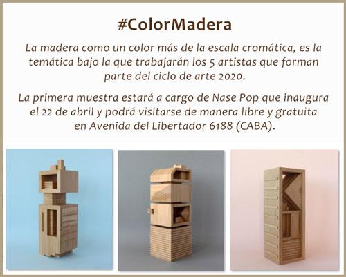 Daniel Stroomer, Nase Pop, expone en #ColorMadera