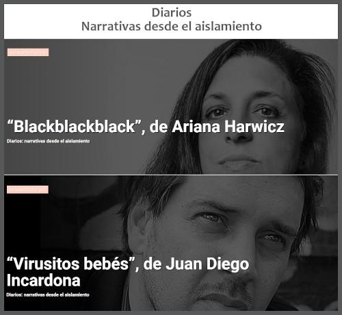 """""""Diarios: narrativas desde el aislamiento"""","""