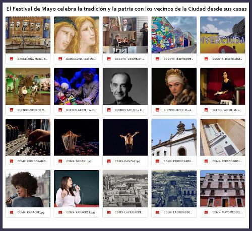 El Festival de Mayo se desarrolla hasta el 25 de mayo