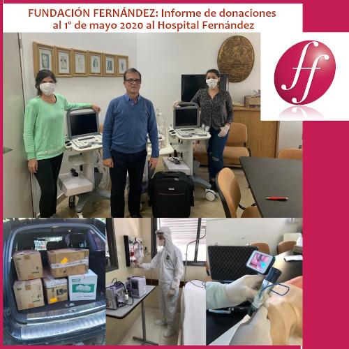 """""""Cuidamos a quienes nos cuidan"""" donaciones recibidas por la Fundación Fernandez al 1° de mayo"""