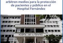 Amparo que solicita se arbitren medios para la protección de pacientes y público en el Hospital Fernández