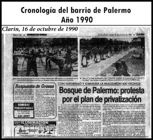 Palermo, protesta por el plan de privatizaciónMutitudinario abrazo en defensa de Palermo