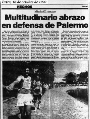 Mutitudinario abrazo en defensa de Palermo