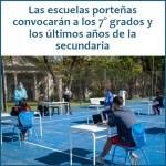 Actividades presenciales y de revinculación en escuelas y polideportivos porteños