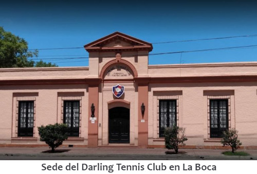 Sede del Darling Tennis Club en La Boca