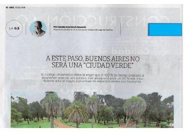 """A ESTE PASO, BUENOS AIRES NO SERÁ UNA """"CIUDAD VERDE"""""""