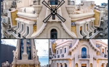 El frente de la Confitería El Molino ya está restaurado