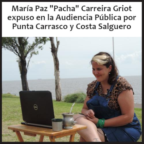 """María Paz """"Pacha"""" Carreira Griot expuso en el 4° día de la Audiencia Pública por Costa Salguero y Punta Carrasco"""