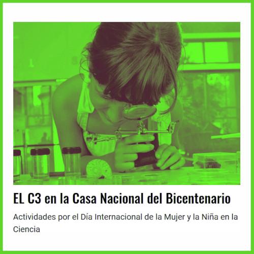 El Centro Cultural de la Ciencia presente en la Casa Nacional del Bicentenario