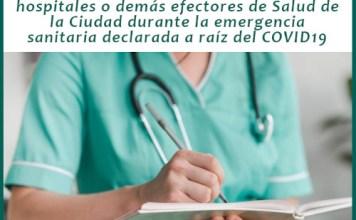 Convocatoria abierta en CABA para el Personal de Salud