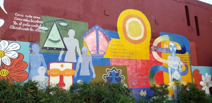 Murales - Patio John Malcolm en el barrio de Villa Crespo