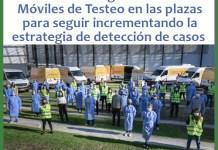Las Unidades Móviles estarán en las plazas para testear a quienes estén en contacto con personas en situación de riesgo