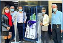 El Hospital Fernández recibió pies de suero móviles y televisores para diálisis