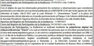Audiencia Pública del 19/10/2921 15hs.